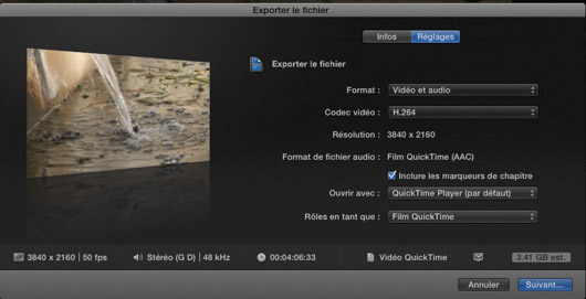 FCPX export simple