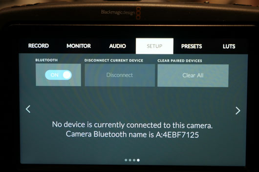 BMPCC Bluetooth