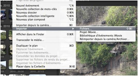 FCPX importer fichiers