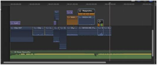 FCPX timeline