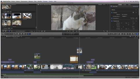FCPX time-line