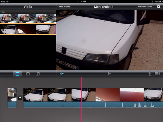 how to cut video in imovie ipad
