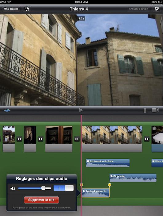 how to add audio to imovie ipad
