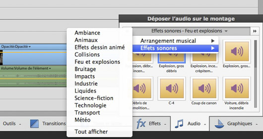 effets sonores