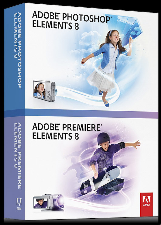 Adobe Premiere Elements 8 et Photoshop 8